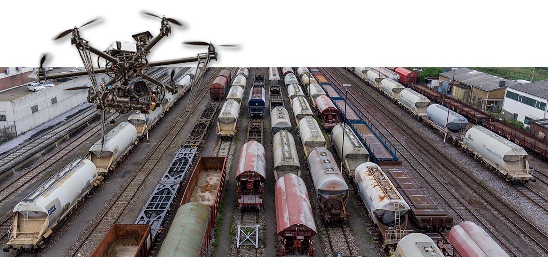 Güter-Zugverkehr im Neusser Hafen