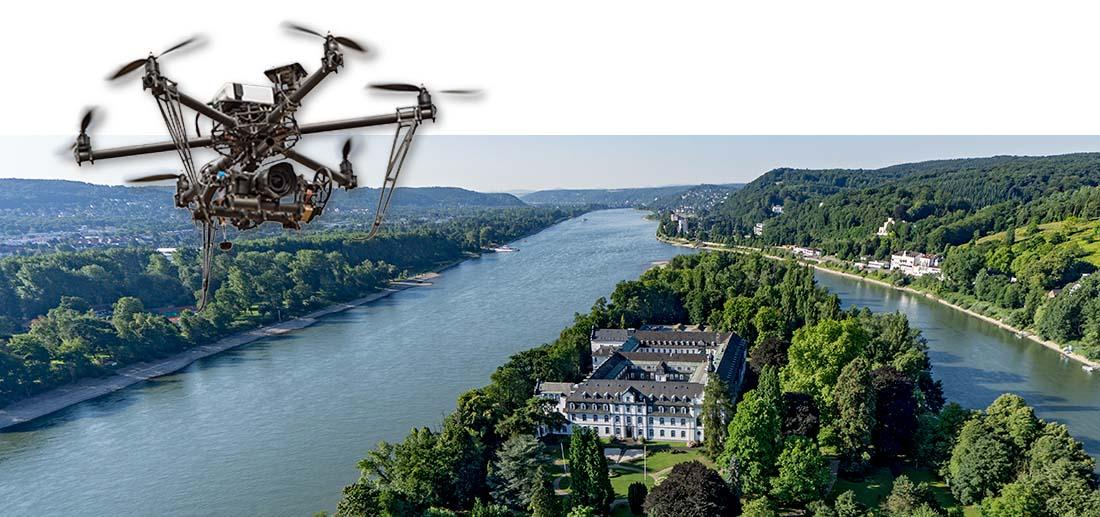 Die Rheininsel Nonnenwerth, Kloster und Gymnasium