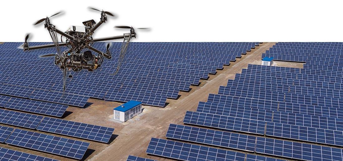 Solarpark von oben