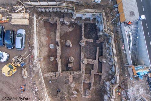 Luftbild zur Dokumentation für Archäologie in Köln, NRW