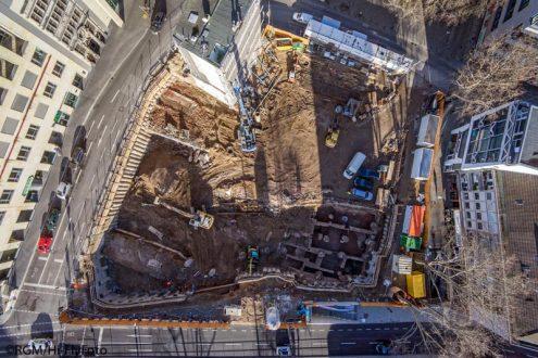 Baustelle und Archäologie Innenstadt Köln