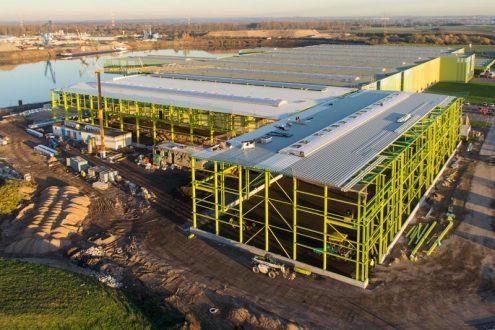 Baustelle einer Lagerhalle in Krefeld