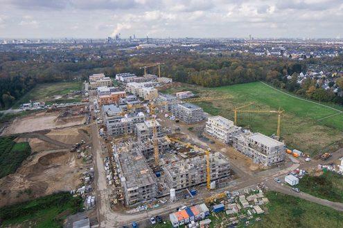 Luftbild von Neubaugebiet in Köln für Immobilienmakler