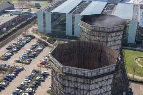Inspektion von einem Kraftwerk in Düsseldorf