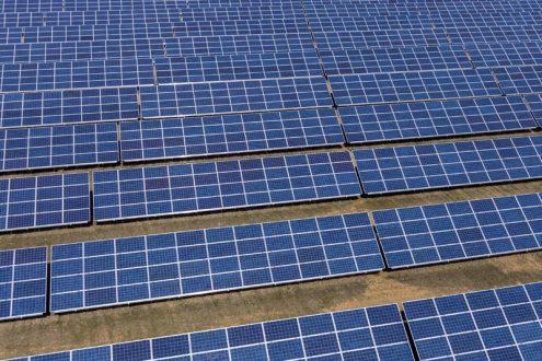 Detailfoto von Solaranlage