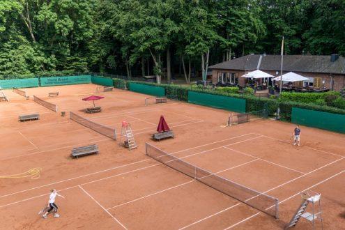 Luftbild von Tennisclub, Sportanlage in Köln