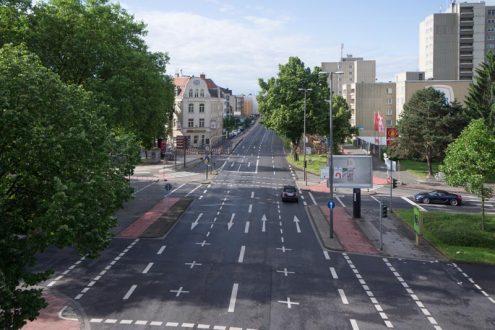 Bonner Straße, Köln für Straßenplanung und Visualisierung von Architekt