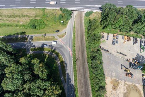 Luftbild von Unfallbereich in Köln für Gutachten