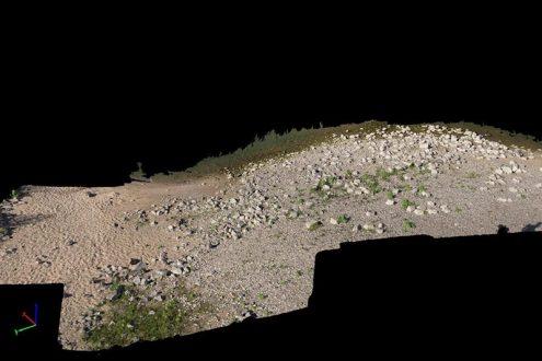 3D Punktwolke von einem Bodendenkmal in der Archäologie