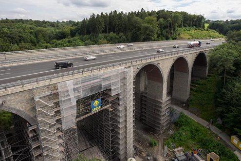 Bauprojekt Brückensanierung einer Autobahnbrücke in NRW