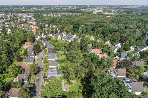 Überblick über Waldviertel in Leverkusen Schlebusch