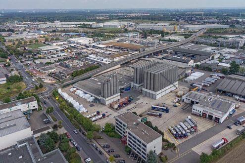 Überblick von Logistik Unternehmen in Hürth in Industriegebiet