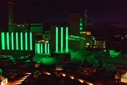 Fest zur Einweihung von einem Kraftwerk in Düsseldorf