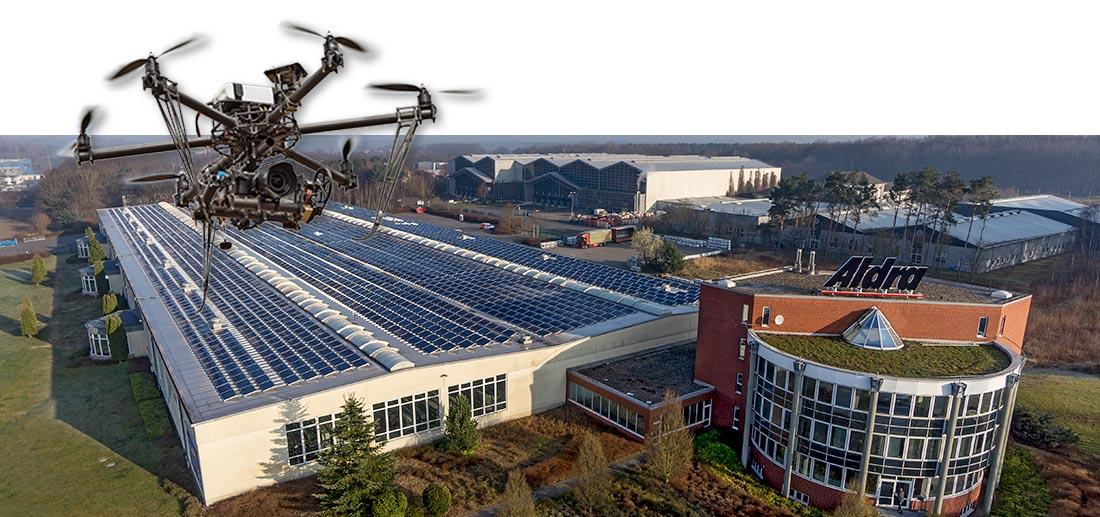 Fabrikhalle und Verwaltungsgebäude von mittelständischer Firma in Marl in Nordrhein-Westfalen