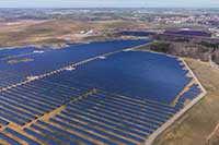 Überblick von Solarpark für Marketing