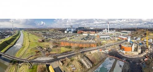 Panorama des Klärwerk in Bottrop, NRW (Klärwerk Emscher)