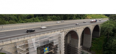 Bausanierung in NRW. Die Autobahnbrücke Einsiedelstein